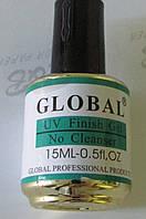 Финишное покрытие  без липкого слоя UV Finish  GLOBAL 15 мл.