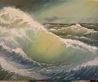 Картина маслом на холсте 40х50 Шторм