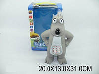 Говорящая игрушка Волк на батарейках русский, музыка, свет 20х13х31 см