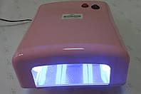 Уф лампа для ногтей 36 Вт Global Fashion  818-В NEW (цвет - РОЗОВЫЙ перламутровый), фото 1