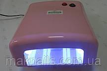 Уф лампа для ногтей 36 Вт Global Fashion  818-В NEW (цвет - РОЗОВЫЙ перламутровый)