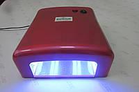 Уф лампа для ногтей 36 Вт Global Fashion  818-В NEW (цвет - ярко красный перламутровый), фото 1