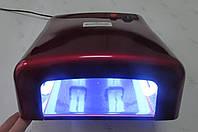 Уф лампа для ногтей 36 Вт Global Fashion  818-В NEW (цвет - БОРДО), фото 1