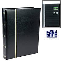 Кляссер SAFE - 64 страницы - А4 - чёрные листы - ватированная обложка
