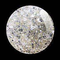 Гель-лак для  ногтей № 223 SALON PROFESSIONAL  (CША ) прозрачный с крупным и мелким серебристым микроблеском