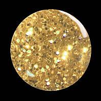 Гель-лак для  ногтей № 225 SALON PROFESSIONAL  (CША ) прозрачный с плотным коричневым  микроблеском