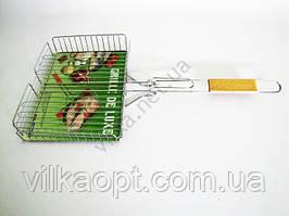 Решетка для барбекю нержавеющая №504 L 62 cm; 31*24*5 cm.