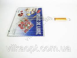 Барбекю №509 Супер с деревянной ручкой L 60 cm; 43 х 32 х 2 cm