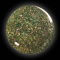 Гель-лак для  ногтей № 242 SALON PROFESSIONAL  (CША ) прозрачный с коричневыми большими и мелкими  блестками