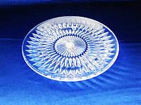 Тарелка пластмассовая прозрачная - 20 см