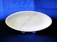 Блюдо керамическое глубокое белое 43 х 20 см.