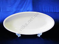 Блюдо керамическое глубокое белое 52 х 23 см.