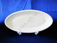 Блюдо керамическое глубокое белое 59 х 28 см.