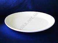 Блюдо керамическое овал белое 32 х 42 см.