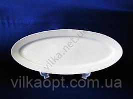 Блюдо для рыбы керамическое белое 57 см. х 20,5 см.