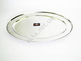 Блюдо овальне нержавіюча сталь L 50 cm w cm 34
