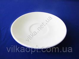 Блюдце керамическое белое для чашки d 12,2 cm. (12 штук в упаковке)