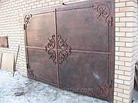 Гаражные ворота кованые