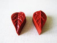 Вайнер кондитерский  Лист розы маленький - 6 х 4 см.
