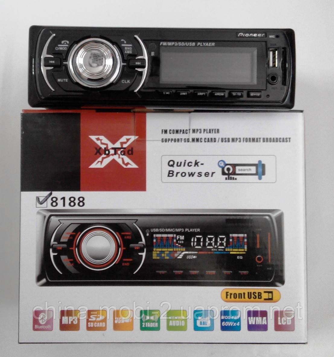Автомагнитола Pioneer 8188 с Bluetooth  MP3 SD USB