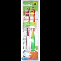 Детская зубная щетка Dontodent Kids 2 шт. Возраст 3-6 лет