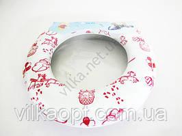 Сиденье для унитаза детское мягкое (крышка) цветное POLLY. Детские горшки и сиденья на унитаз