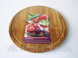 Доска деревянная для пиццы д. 36 см.