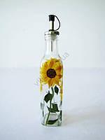Скляна ємність для олії Соняшник середній 0,5 мл.