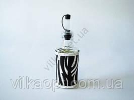 Скляна ємність для олії 19 см Зебра 0,25 л.
