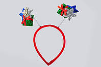 Новогодний декор Обруч с подарками и звездочкой