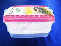 Судок-контейнер из 3-х: 2 х 0,75 л.+ 1 х 1,6 л