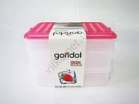 Судок-контейнер  из 3-х: 2 х 1,6 л + 1 х 0,75 л.
