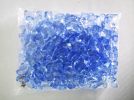 Кристалл пластмассовый голубой бабочка - 3 х 2,5 см.