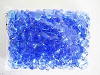 Кристалл пластмассовый синий - 2 х 2 см.