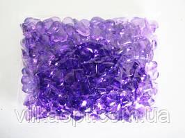 Кристалл пластмассовый сиреневый 3 х 2,5 см.