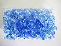 Кристалл пластмассовый голубой - 3 см.