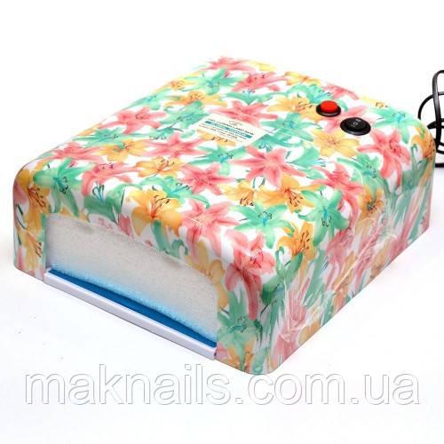 Уф лампа для ногтей 36 Вт Global Fashion  818 Цветы