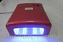 Уф лампа для ногтей 36 Вт Global Fashion  818-В NEW (цвет - ярко красный перламутровый)