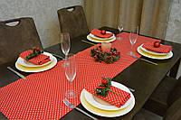 Раннер (дорожка) для стола Красные звездочки 145*45 см