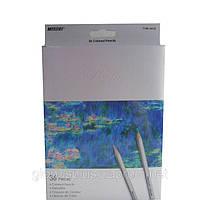 Карандаши цветные 36 цветов MARCO 7100-36CB Raffine, металлизированные, фото 1