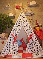 """Детский игровой домик, вигвам, палатка, шатер, шалаш """"Котик"""""""