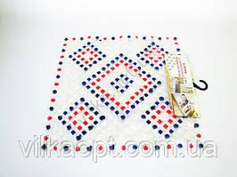 Коврик силиконовый квадратный ромбики 52 х 50 см.