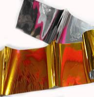 Фольга Битое стекло 018 золото