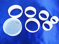 Набор колец пластмассовых  из 6 ти для гарнира (4,7 - 10 см.)