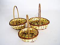 Набор корзинок из лозы из 3-х овальные ( 13 х 10 х 5; 15 х 11 х 5; 17 х 12 х 5)