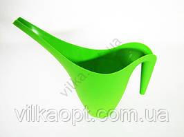 Лейка для полива пластмассовая зелёная