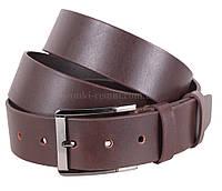 Кожаный ремень для мужчин темно-коричневого цвета