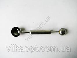 Ложка для фруктовых шариков L 17 cm (d1 - 2,7 cm; d2 - 3,2 cm)