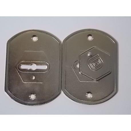 Дверная накладка сувальдная Гардиан ГН-20.01 БШ (пара)