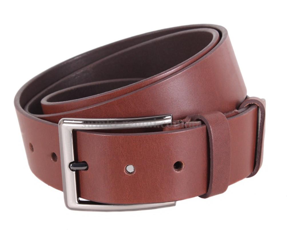 Мужской ремень из натуральной кожи под джинсы UK888-23 коричневый